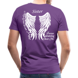 Sister Guardian Angel Men's Premium T-Shirt (Ck1484) - purple