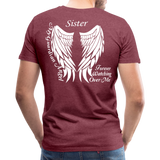 Sister Guardian Angel Men's Premium T-Shirt (Ck1484) - heather burgundy