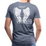 Sister Guardian Angel Men's Premium T-Shirt (Ck1484) - heather blue