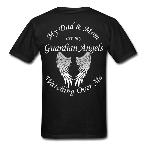 Mom and Dad Guardian Angels Gildan Ultra Cotton Adult T-Shirt - black
