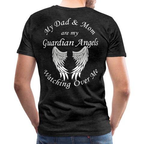 Dad and Mom Guardian Angels Men's Premium T-Shirt - charcoal gray