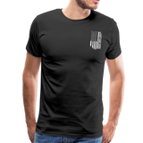 American Flag Dad Men's Premium T-Shirt (CK1903) - black
