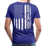 American Flag Dad Men's Premium T-Shirt (CK1903) - royal blue