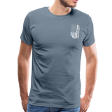 American Flag Dad Men's Premium T-Shirt (CK1903) - steel blue
