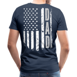 American Flag Dad Men's Premium T-Shirt (CK1903) - navy