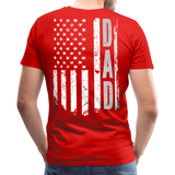 American Flag Dad Men's Premium T-Shirt (CK1903) - red
