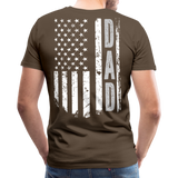 American Flag Dad Men's Premium T-Shirt (CK1903) - noble brown