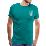 American Flag Dad Men's Premium T-Shirt (CK1903) - teal