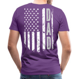 American Flag Dad Men's Premium T-Shirt (CK1903) - purple
