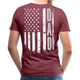 American Flag Dad Men's Premium T-Shirt (CK1903) - heather burgundy