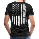 American Flag Dad Men's Premium T-Shirt (CK1903) - charcoal gray