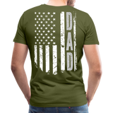 American Flag Dad Men's Premium T-Shirt (CK1903) - olive green