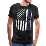 American Flag Popo Men's Premium T-Shirt - charcoal gray