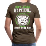 Dont Judge My Pitull Men's Premium T-Shirt - noble brown