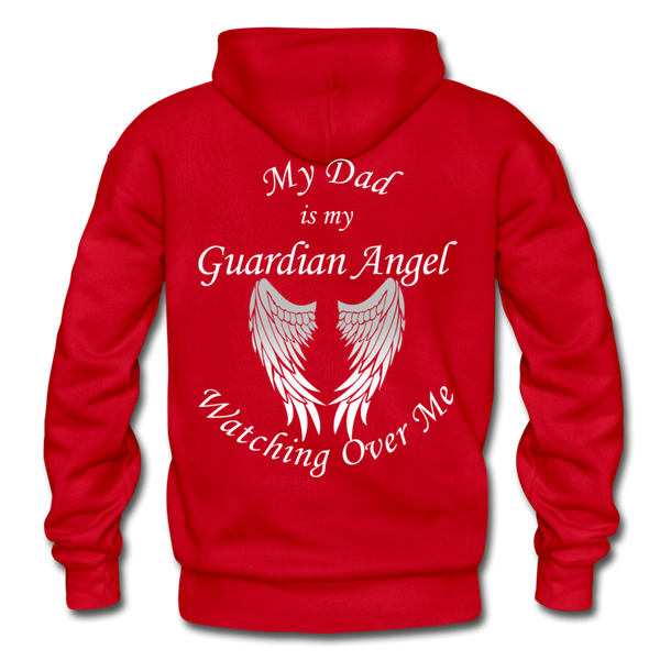 Dad Guardian Angel Gildan Heavy Blend Adult Hoodie (CK1402) - red