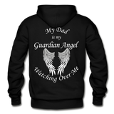 Dad Guardian Angel Gildan Heavy Blend Adult Hoodie (CK1402) - black
