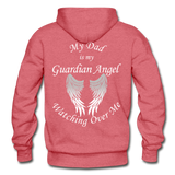 Dad Guardian Angel Gildan Heavy Blend Adult Hoodie (CK1402) - heather red