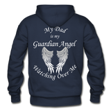Dad Guardian Angel Gildan Heavy Blend Adult Hoodie (CK1402) - navy