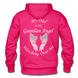 Dad Guardian Angel Gildan Heavy Blend Adult Hoodie (CK1402) - fuchsia