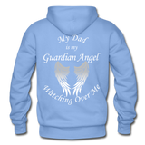 Dad Guardian Angel Gildan Heavy Blend Adult Hoodie (CK1402) - carolina blue