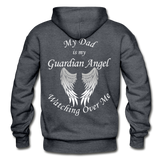 Dad Guardian Angel Gildan Heavy Blend Adult Hoodie (CK1402) - charcoal gray