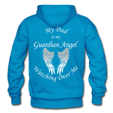Dad Guardian Angel Gildan Heavy Blend Adult Hoodie (CK1402) - turquoise