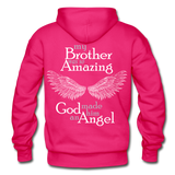 Brother Amazing Angel Sister of an Angel Gildan Heavy Blend Adult Hoodie - fuchsia
