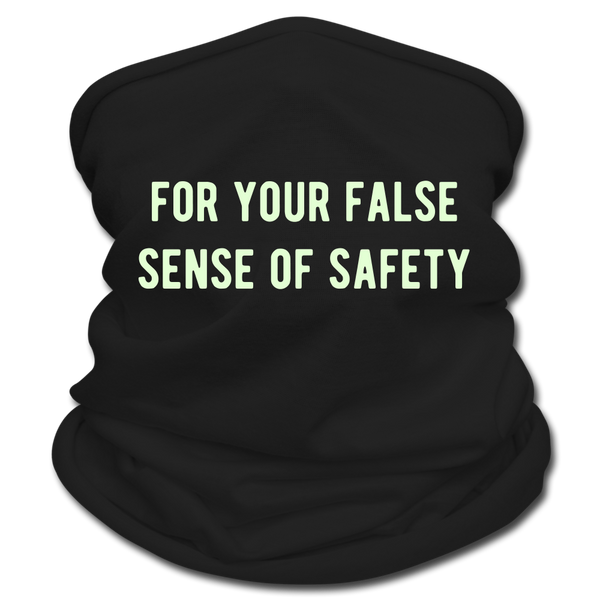 for your false sense of safety Multifunctional Scarf | Tan's Club - black