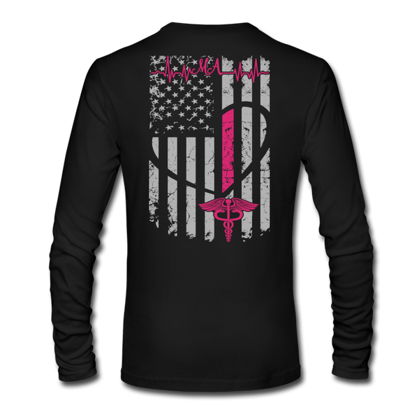 Medical Assistant Flag Men's Long Sleeve T-Shirt by Next Level (CK1387) - black