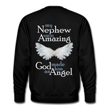 Nephew Amazing Angel Men's Premium Sweatshirt - black