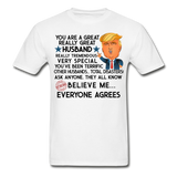 Husband Trump Gildan Ultra Cotton Adult T-Shirt - white