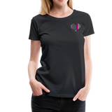 Nurse Flag Heart Flag Front Women's Premium T-Shirt (CK1818) updated - black