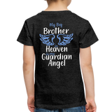 My Big Brother in Heaven Toddler Premium T-Shirt - charcoal gray