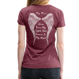 My Mom Gone From Sight Memorial Women's Premium T-Shirt (CK1805) - heather burgundy