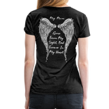 My Mom Gone From Sight Memorial Women's Premium T-Shirt (CK1805) - charcoal gray