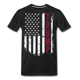 Trump American Flag Men's Premium Organic T-Shirt - black