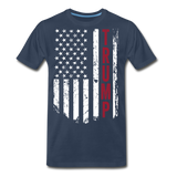 Trump American Flag Men's Premium Organic T-Shirt - navy