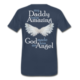 Daddy Amazing Angel Men's Premium Organic T-Shirt (CK1488) - navy