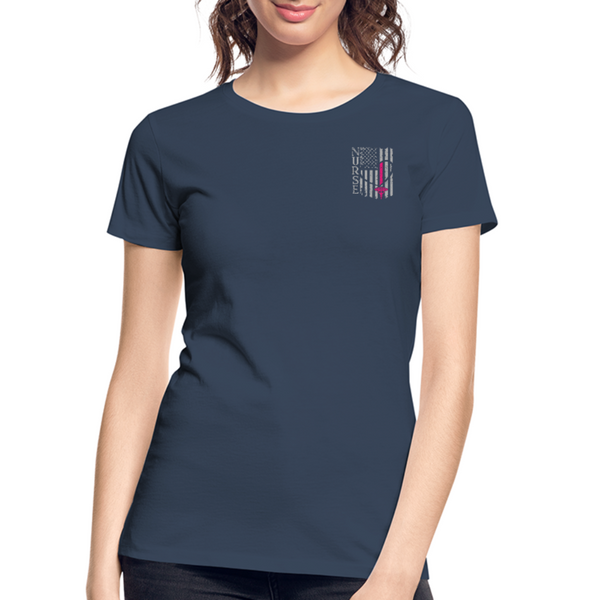 Nurse Flag Women's Premium Organic T-Shirt (CK1213) - navy