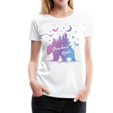 Grandma Bear Women's Premium T-Shirt (KS1029) - white