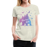 Grandma Bear Women's Premium T-Shirt (KS1029) - heather oatmeal