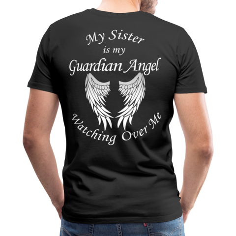 Sister Guardian Angel Men's Premium T-Shirt (CK1360) - black