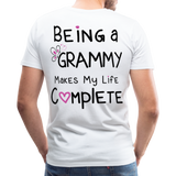 Being a Grammy Makes My Life Complete Men's Premium T-Shirt - white