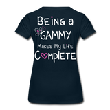 Being a Gammy Makes My Life Complete Women's Premium T-Shirt - deep navy