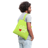 Best Gammie Ever Tote Bag (CK4002) - lime green