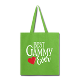 Best Gammy Ever Tote Bag (CK4003D) - lime green