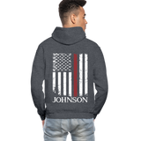 Johnson Firefighter Gildan Heavy Blend Adult Hoodie - charcoal gray