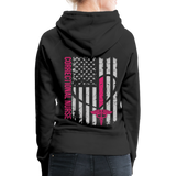 Correctional Nurse Nurse Flag Women's Premium Hoodie - black