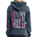 Correctional Nurse Nurse Flag Women's Premium Hoodie - heather denim