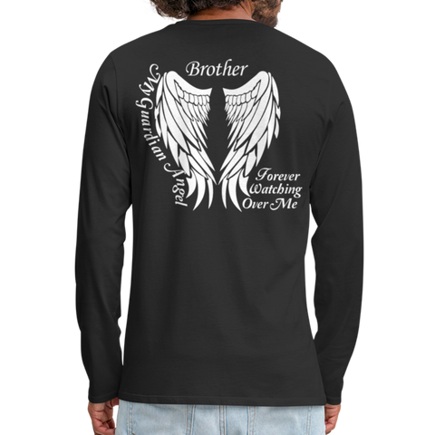 Brother Guardian Angel Men's Premium Long Sleeve T-Shirt - black